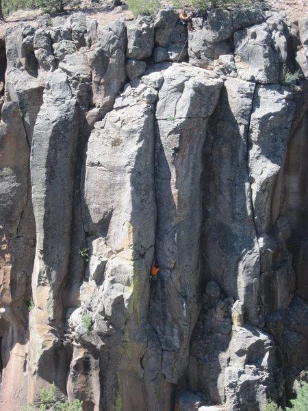 Rock Climbing Photo: Unknown climber on Mayflower.