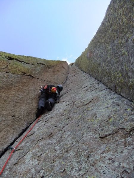 Rock Climbing Photo: Artley starting up P2