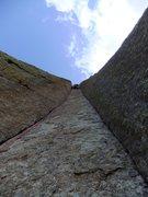 Rock Climbing Photo: P2 stem action