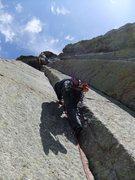 Rock Climbing Photo: Artley starting up P3