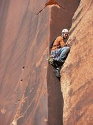 "Rock Climbing Photo: Knee stuck in ""Desire"""