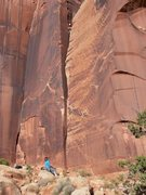 "Rock Climbing Photo: Nearing the chimney top out of ""Desire"""