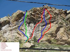 Rock Climbing Photo: Beta view of the routes.