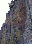 Rock Climbing Photo: Left crack is The Proposal(5.12a).  Right crack is...