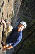 Rock Climbing Photo: Ori showing the proper use of superfluous figure 4...