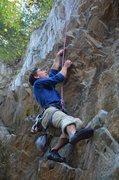Rock Climbing Photo: Ori sending Dirty Thing on TR, fun jug haul