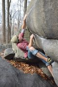 Rock Climbing Photo: Cole making the moves on Bubblegum. Photo: Adam Li...