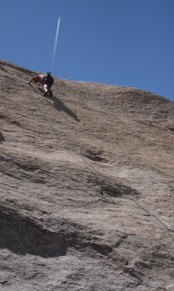 Rock Climbing Photo: Jefe high up on Under The Radar.