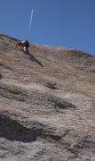 Rock Climbing Photo: Jefe high up on Under The Radar.