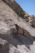 Rock Climbing Photo: Dave Evans trying the 5.10 overhang of  Rodeo Dogg...