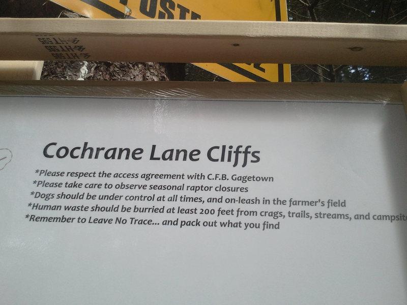 Rock Climbing Photo: Cochrane lane's suggestions