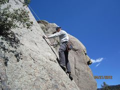 "Rock Climbing Photo: Starting up ""Slablander."" I don't lead h..."