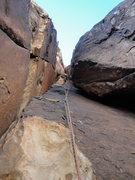 Rock Climbing Photo: Pitch 2 stembox.