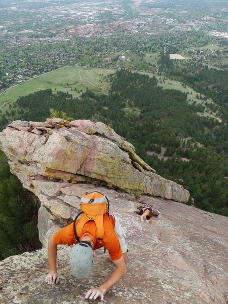 Yannick and Shirley on their first Flatiron solo.