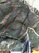 Rock Climbing Photo: Crappy Crack.... it's really not that bad though.