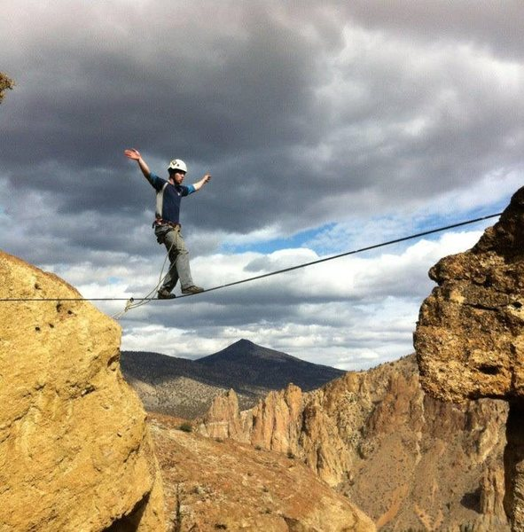 Rock Climbing Photo: Mid-line. Smith Rock, OR.