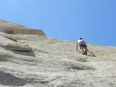 Rock Climbing Photo: Climbing on the Hidden Slab