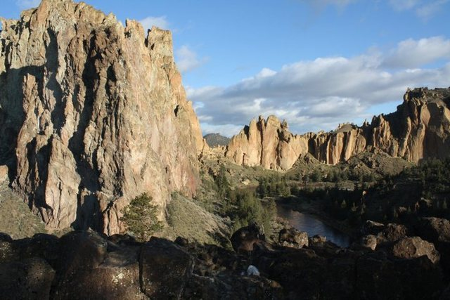 Smith Rock, OR as seen from the best car camping spot ever.