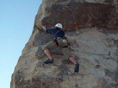 Rock Climbing Photo: Zach on headstone