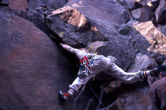 Rock Climbing Photo: First ascent of Trapeze (looks like we need to add...