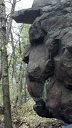 Rock Climbing Photo: It's a face!!