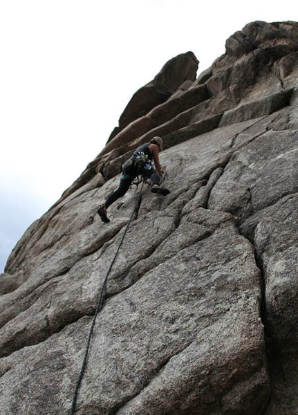 Rock Climbing Photo: On the East Face route of The Dome; Boulder Canyon