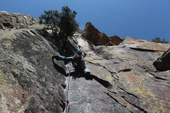 Rock Climbing Photo: Ry on the 1st pitch of Rover