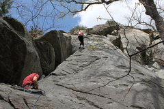 Rock Climbing Photo: Belaying on Born Again at the Bald.