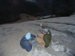 Rock Climbing Photo: Me and Mike Moore, just above last Belay Station (...