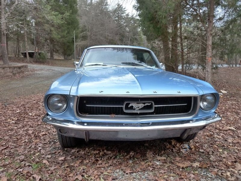 Rock Climbing Photo: My 67 Mustang...UNC Blue!!!