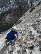 Rock Climbing Photo: Mark Collar topping out on the MSMR. P6, 5.4X.