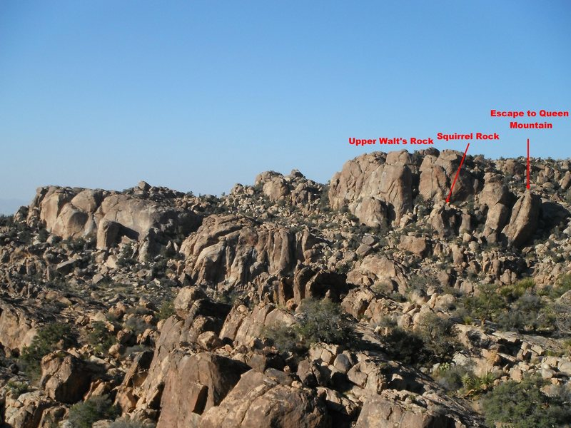 Rock Climbing Photo: Squirrel Rock and environs