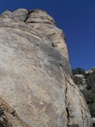 Rock Climbing Photo: Escape to Queen Mountain, 5.10a