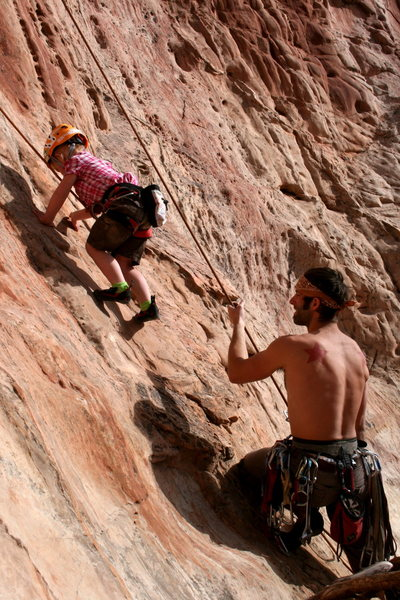 Rock Climbing Photo: Getting some time in on my new shoes. Thanks Chuck...