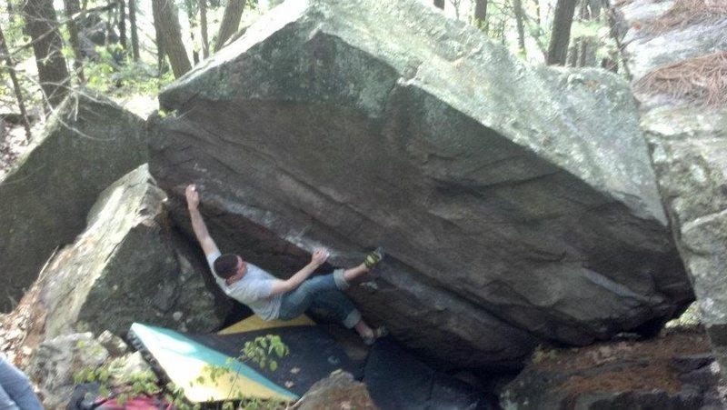 Rock Climbing Photo: Jim moving along the rail