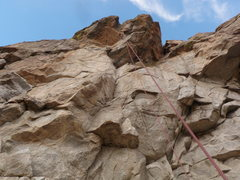 Rock Climbing Photo: Unloved starts below the first roof, heads left br...