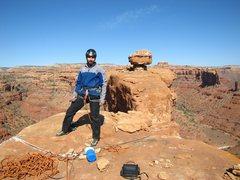 Rock Climbing Photo: Bill on top of Tommy Knocker.