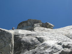 Rock Climbing Photo: Noelle Ladd on Coffin Nail stopping to shoot a few...