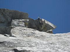 Rock Climbing Photo: Nathan Fitzhugh belaying Agina Sedler as she start...