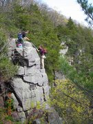 Rock Climbing Photo: Hoofers gentlemen on 4-22-12 taking time to fish t...