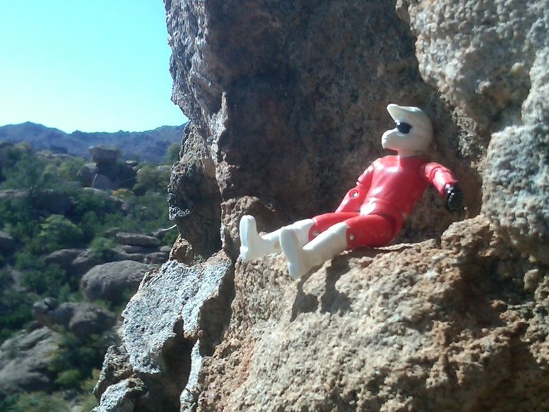 Rock Climbing Photo: It's Me as an Action Figure.
