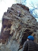 Rock Climbing Photo: Great warm-up climb.