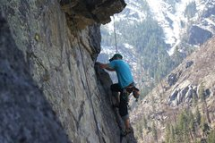Rock Climbing Photo: I don't know this guy, but he happened to be climb...