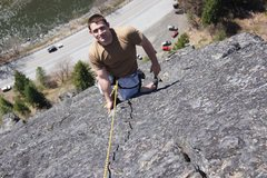 Rock Climbing Photo: Me, proud of my first multi pictch climb. 5 pitche...