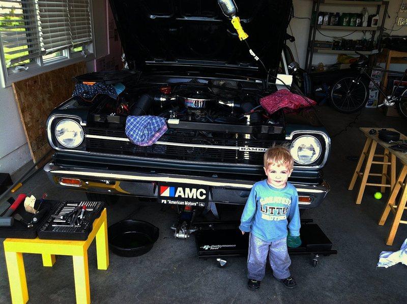 Daddy's little helper.