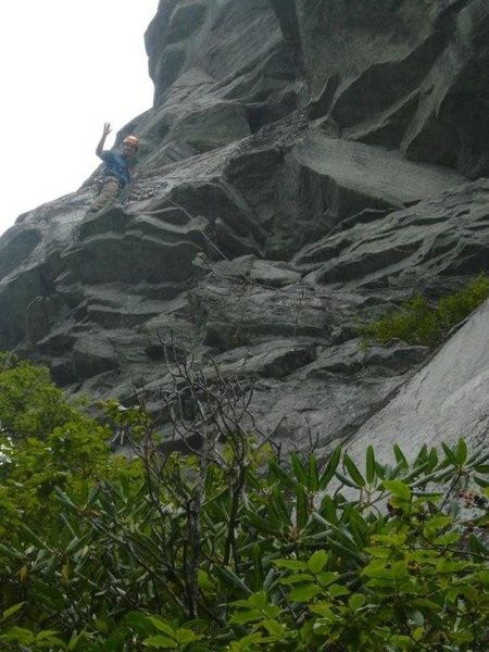 Rock Climbing Photo: Hindu Kush, Ship Rock NC