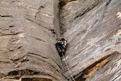 Rock Climbing Photo: Having fun leading the first three awesome pitches...