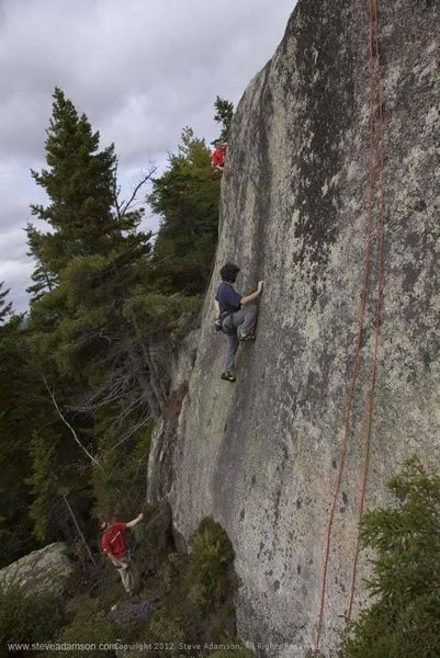 John on Black smear, a route he soloed for the FFA.