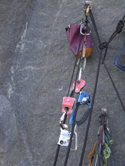Rock Climbing Photo: My 2:1 system. Notice how everything is very much ...