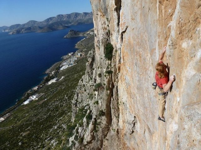 Rock Climbing Photo: Not many tufas on this wall but still great climbi...